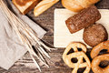 Bread assortment Stock Images