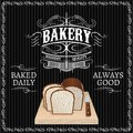 Bread for a bakery background with Stock Images