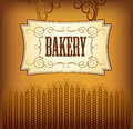 Bread bakery labels pack for bread wheat ear of wheat Royalty Free Stock Image