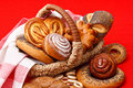 Bread in basket Royalty Free Stock Image