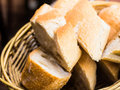 Bread in basket Royalty Free Stock Photo