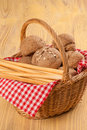 Bread basket Stock Photos