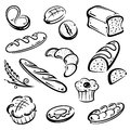 Bread breakfast vector set of and Royalty Free Stock Image
