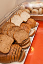 Bread in buffet a variety of sliced and buns a Stock Images