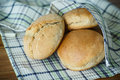 Bread buns from yeast dough fresh homemade Royalty Free Stock Photography
