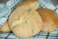 Bread buns from yeast dough fresh homemade Stock Photo