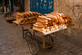 Bread cart Stock Image