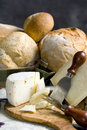 Bread and Cheese 4 Royalty Free Stock Photos