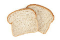 Bread closeup of sliced on white background Stock Image