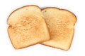 Bread closeup of slices of toast on white background Royalty Free Stock Images