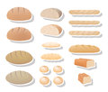 Bread collection different types of delicious Royalty Free Stock Photos