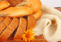 Bread composition Stock Image