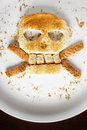 Bread Crossbones Royalty Free Stock Photo