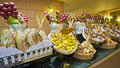 Bread display at a hotel buffet Stock Images