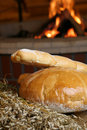 Bread with fireplace Stock Images