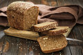 Bread fresh brown on a board Royalty Free Stock Image