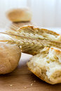 Bread freshly baked homemade and wheat classes Stock Photography