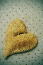 Bread heart Stock Photography
