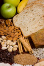 Bread ingredients vertical 3 Royalty Free Stock Image