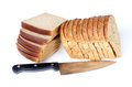 Bread and knife Royalty Free Stock Images