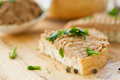 Bread with liver pate Royalty Free Stock Image