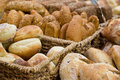 Bread at the market on display Stock Photography