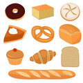 Bread and pastry clip-art Stock Photos