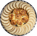 Bread platter Stock Images