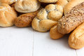 Bread rolls and baguettes. Royalty Free Stock Photo