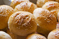 Bread rolls covered with sesame seeds ready for consumption seed eating Royalty Free Stock Photography