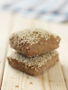 Bread rolls with sesam seeds fresh homemade brown Stock Image