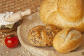 Bread with seeds and sesame Royalty Free Stock Image