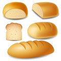 Bread set in different positions Stock Photography