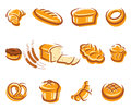 Bread set vector illustration this is file of eps format Royalty Free Stock Images