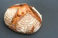 Bread side view with a nice crust and copy space to the right focus is on the front of the Royalty Free Stock Photos