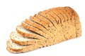 Bread sliced wheat o isolated white background Stock Photo