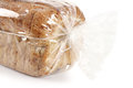 Bread slices of with sesame on white background Royalty Free Stock Photography