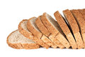 Bread slices of with sesame on white background Stock Photos
