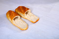Bread slippers a pair of shoes made of abstract Stock Photography