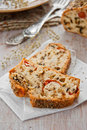 Bread with spices and vegetables Royalty Free Stock Photos
