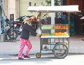 Bread stall vendor Royalty Free Stock Images