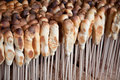 Bread-on-a-stick Stock Image