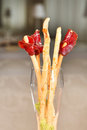 Bread-stick with parma ham Stock Photography
