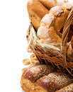 Bread still life with space Royalty Free Stock Photos
