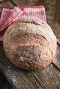 Bread traditional on old wooden table Royalty Free Stock Images