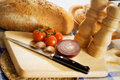 Bread And Vegetables Royalty Free Stock Photo