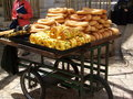 Bread vendor wagon Royalty Free Stock Photos