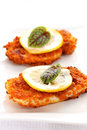 Breaded chicken schnitzel Stock Photography
