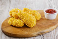 Breaded chicken wings Royalty Free Stock Photo