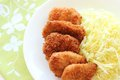 Breaded pork cutlet Stock Images